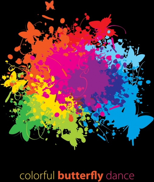 splashes color powder free vector download 23777 free