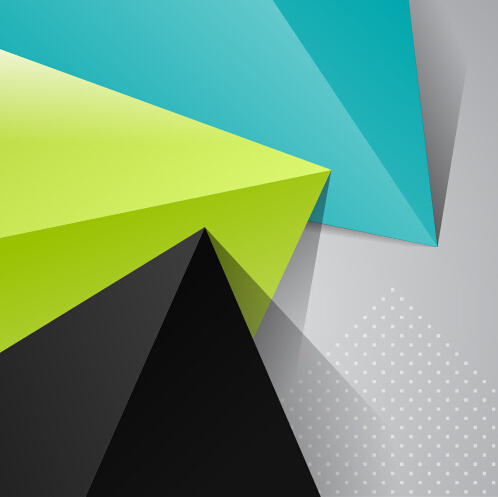 Triangle embossment colored background vector graphics ...