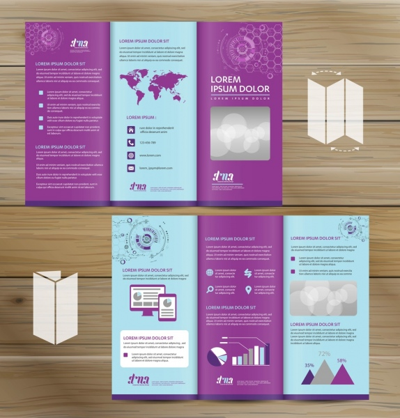 Trifold brochure mockup realistic rendering of trifold brochure trifold brochure mockup realistic rendering of trifold brochure background 3d illustration abstract business tri fold leaflet friedricerecipe Choice Image