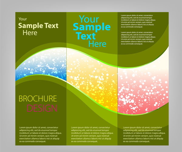 Trifold Brochure Templates Free Vector In Adobe Illustrator Ai Ai - Template for brochure