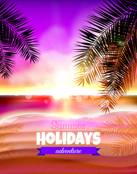 tropical summer holidays vector background art