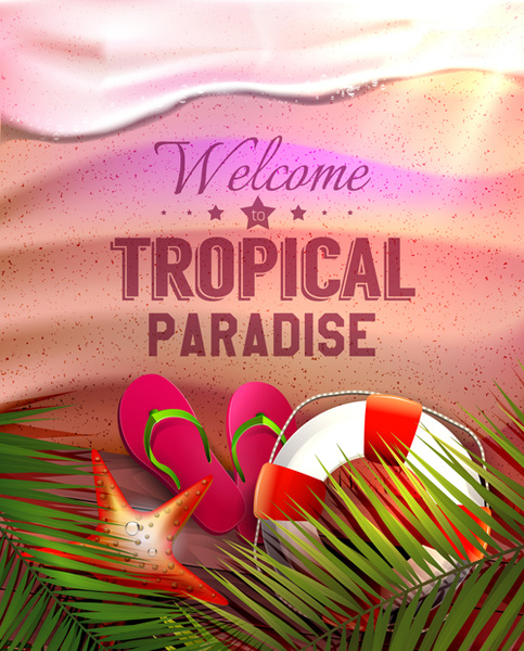 tropical summer holidays vector background art