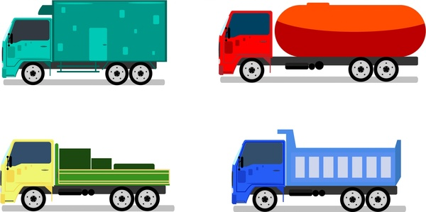 trucks design collection in various types