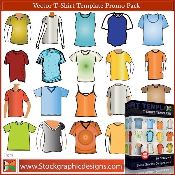 tshirt clothing vector template