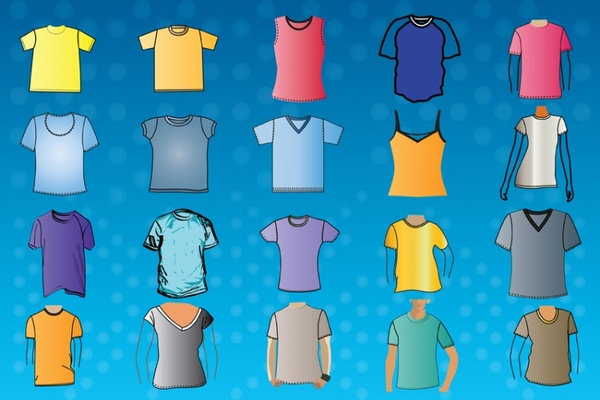 TShirt Template Vectors Free Vector In Adobe Illustrator Ai Ai - Property of t shirt template