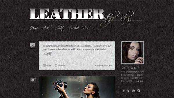 Tumblr Leather Blog PSD
