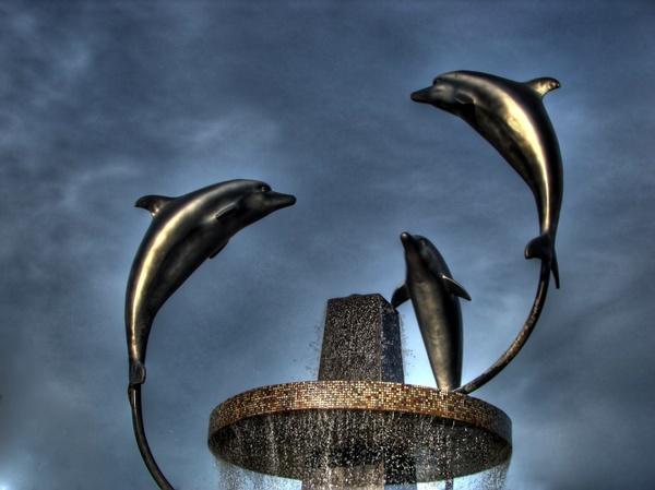 turkey dolphins sculpture