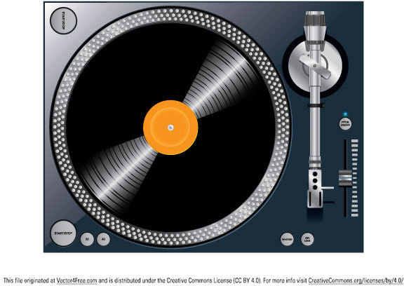 Turntable Free Vector In Adobe Illustrator Ai Ai