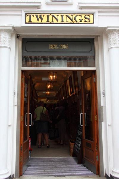 twinings tea entrance