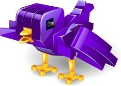 Twitter bricks purple