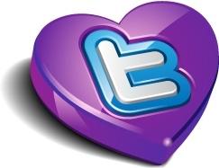 Twitter heart purple