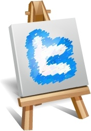 Twitter painting