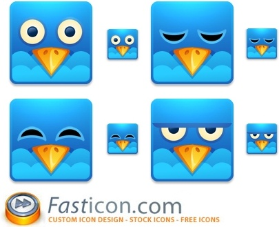Twitter Square Icons icons pack