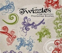 Twizzles HiRes – PS Brushes