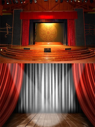 two beautiful stage for highdefinition picture
