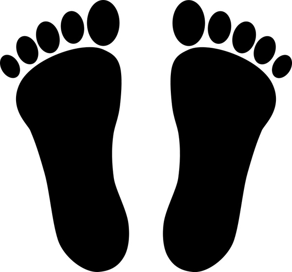 two footprints black free vector in open office drawing svg svg