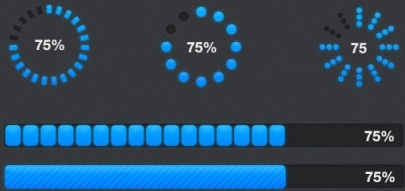 two formats progress bar psd layered