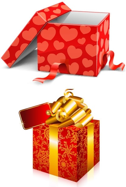 two gift boxes vector