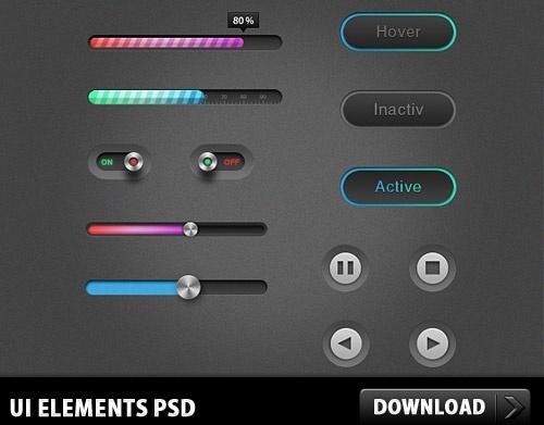 UI Elements Free PSD