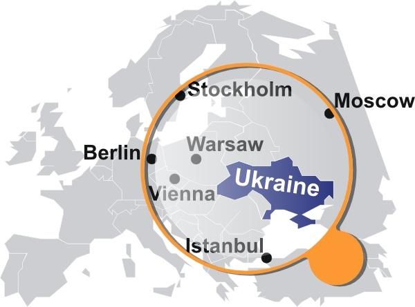 Ukrainian Map Under Magnifier Clip Art Free Vector In Open