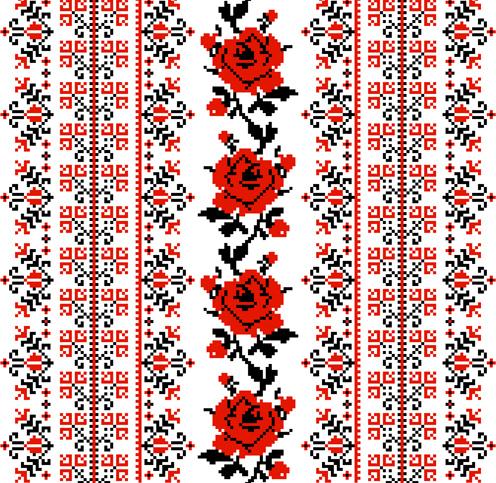 embroidery designs  vector    vector