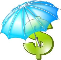 Umbrella and dola sign