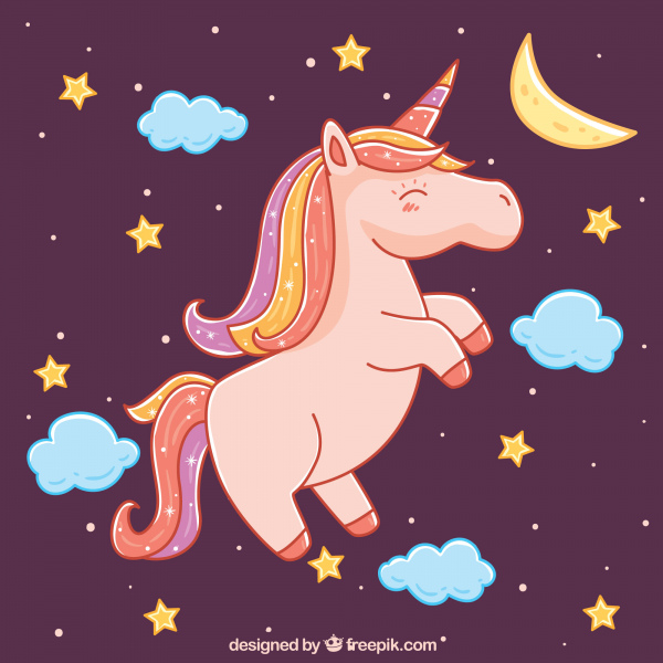 unicorn with stars design