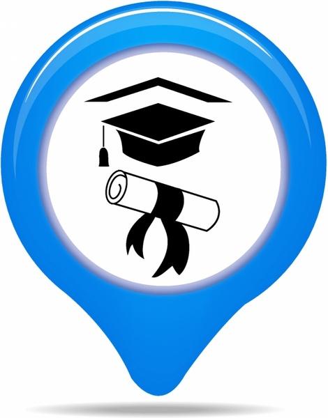 University map pointer