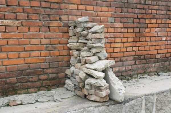 unnatural rock formation