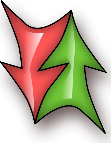 Up And Down Double Arrow clip art