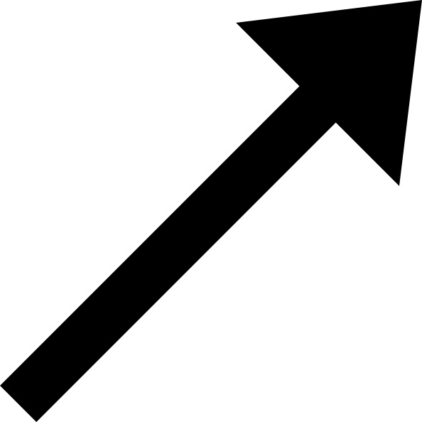 Up right black arrow clip art free vector in open office drawing svg up right black arrow clip art altavistaventures Gallery