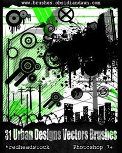 Urban Designs Vectors Brushes