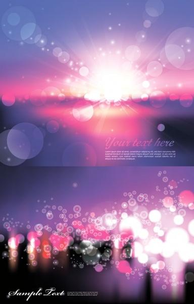 urban romantic light vector 2