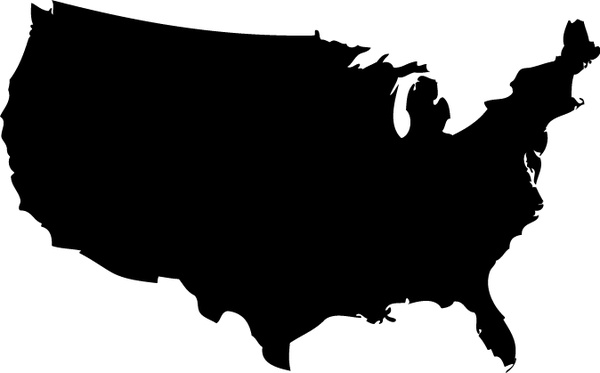US Map Silhouette Vector Free vector in Adobe Illustrator ai ( .ai ...