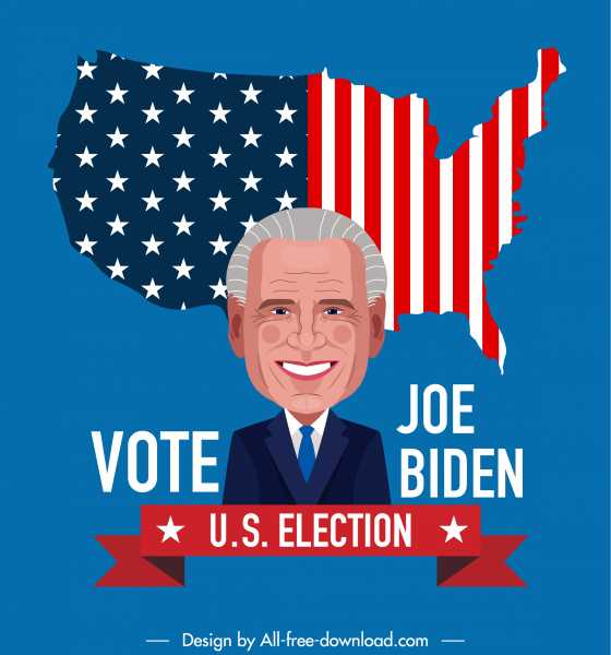 usa voting campaign poster candidate flag sketch