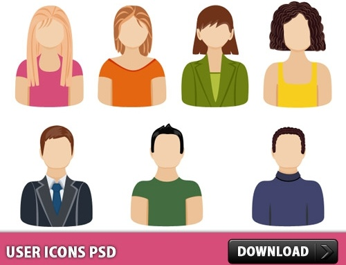 User Icons Free PSD