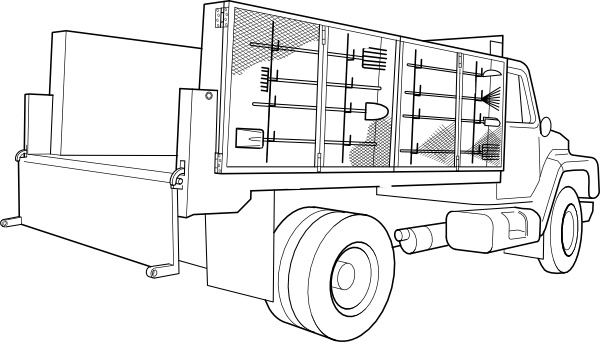 water truck coloring pages - photo#22