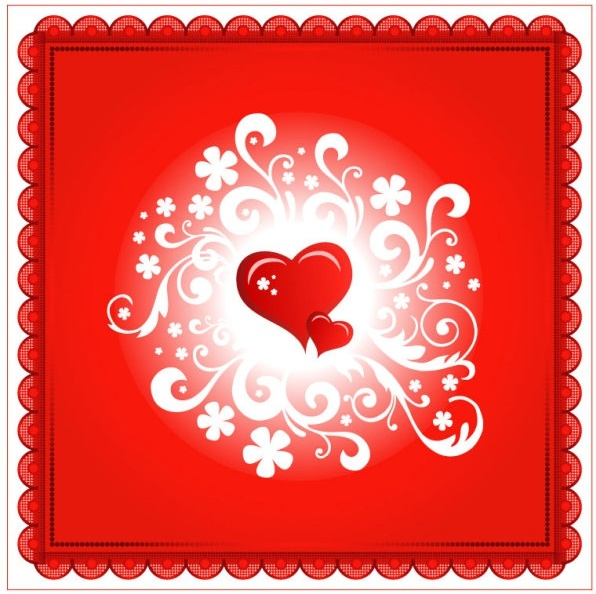 valentine39s day heartshaped card 05 vector