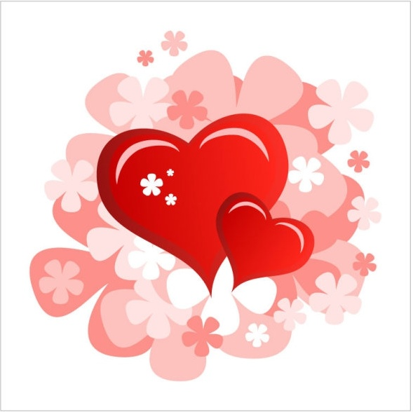 valentine39s day heartshaped card 06 vector