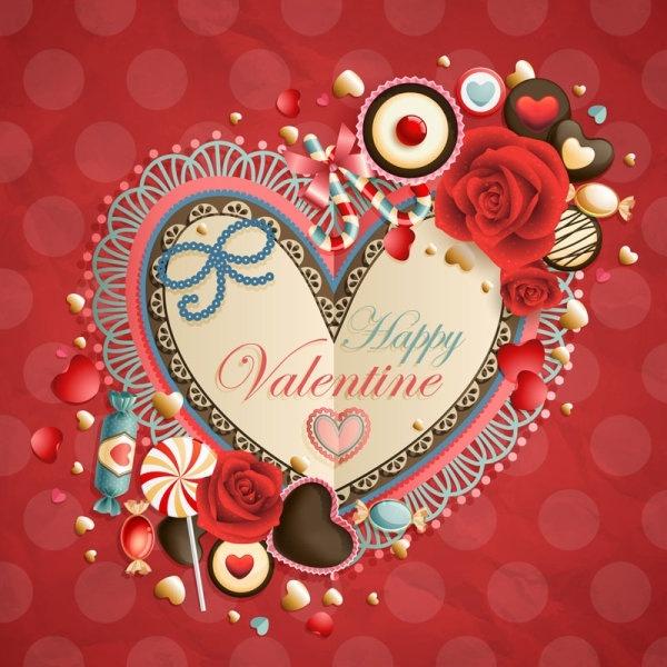 valentine39s day heartshaped tag 03 vector