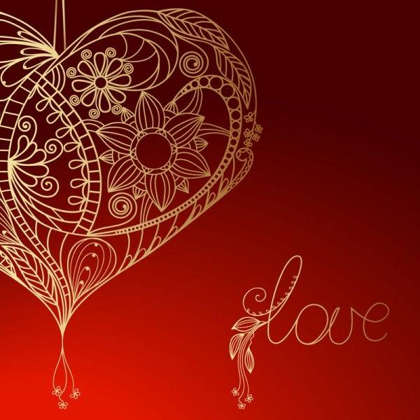 valentine39s day red background 04 vector