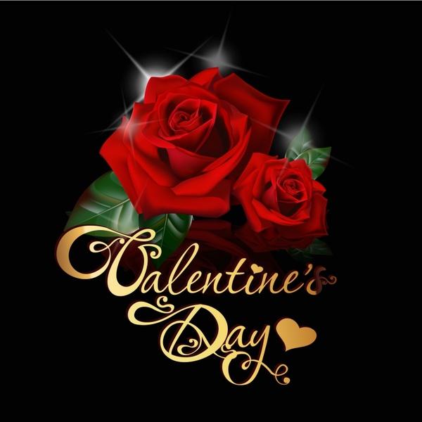 valentine39s day romance roses vector