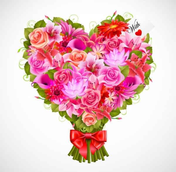 Valentine's Day flowers background
