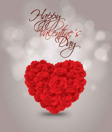 Valentines Day Rose Heart Vector Graphcis Free Vector In