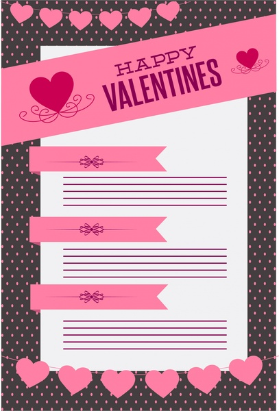valentine background design various hearts and white page
