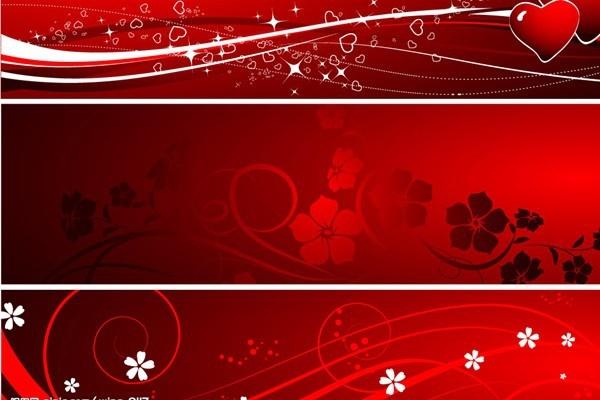 valentine background flowers hearts icons dark red decor