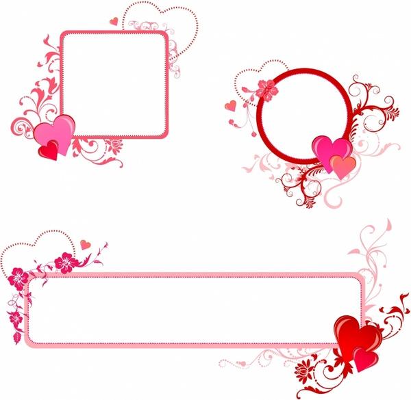 valentine border free vector in adobe illustrator ai ai