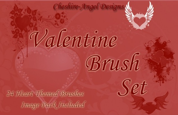 Valentine Brush Set