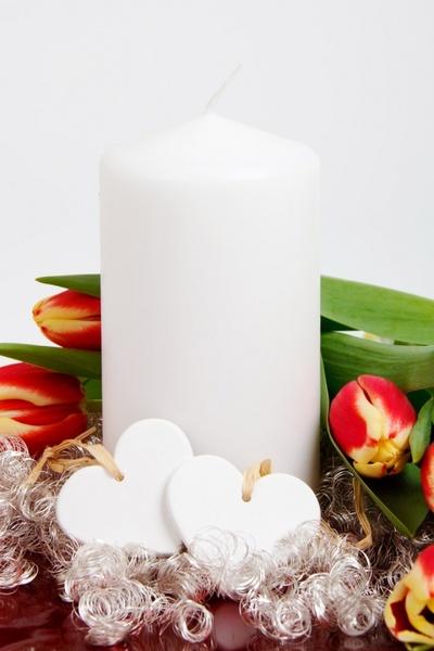 valentine candle decoration