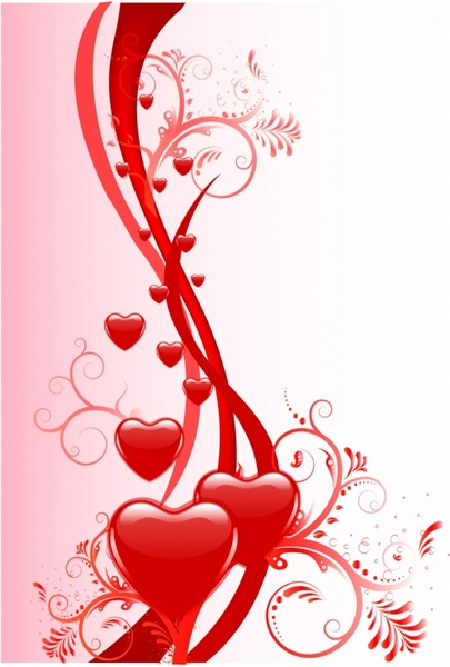 Valentine Day Background Free Vector In Adobe Illustrator Ai Ai